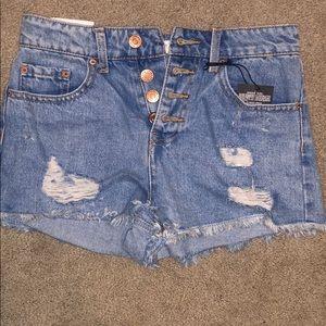 Forever 21 High Rise Denim Shorts